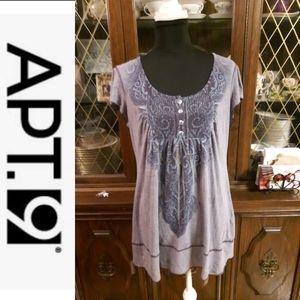 size XL APT.9 purple Paisley Floral shirt